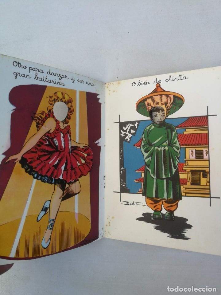 Libros antiguos: CUADERNO CON DIBUJOS DE BADIA - TE GUSTARIA UN EQUIPO DE ESQUIADORA, CHINITA, REINA, ENFERMERA, AZAF - Foto 4 - 203836210