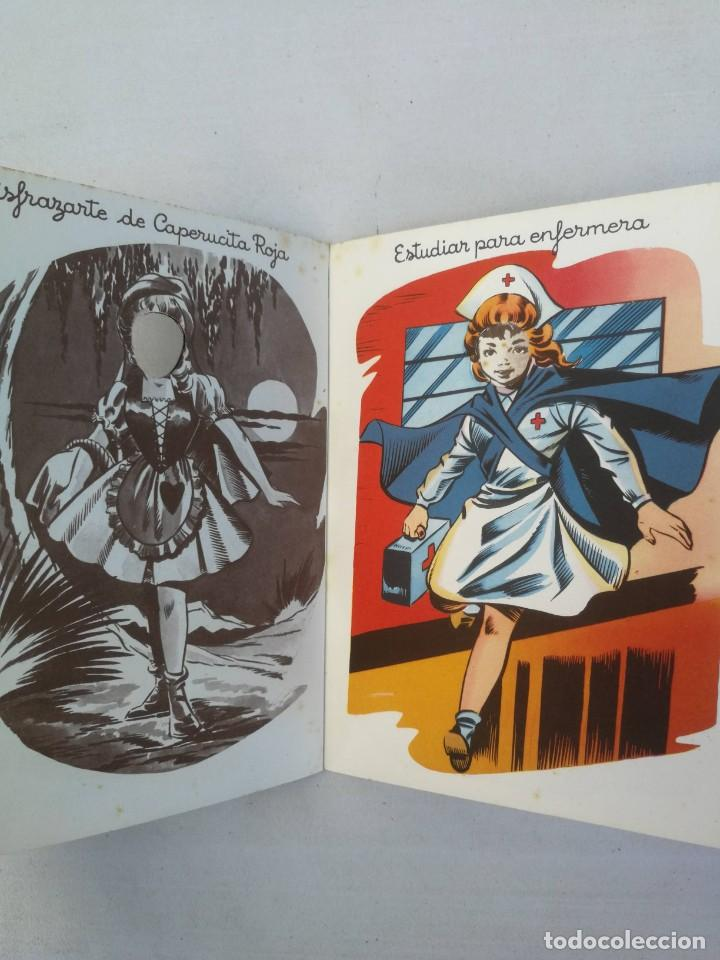 Libros antiguos: CUADERNO CON DIBUJOS DE BADIA - TE GUSTARIA UN EQUIPO DE ESQUIADORA, CHINITA, REINA, ENFERMERA, AZAF - Foto 5 - 203836210