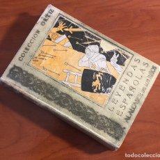Libros antiguos: LEYENDAS ESPAÑOLAS, COLECCION ORTIZ, (EDITORIAL ESTUDIO). Lote 205589626