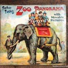 Libros antiguos: CUENTO CON IMAGENES EN MOVIMIENTO. ZOO PANORAMA WITH MOVABLE PICTURES. FATHER TUCK'S. C. 1910. Lote 207076577