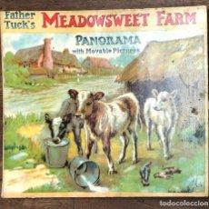 Libros antiguos: CUENTO CON IMAGENES EN MOVIMIENTO. MEADOWSWEET FARM WITH MOVABLE PICTURES. FATHER TUCK'S. C. 1910. Lote 207077466