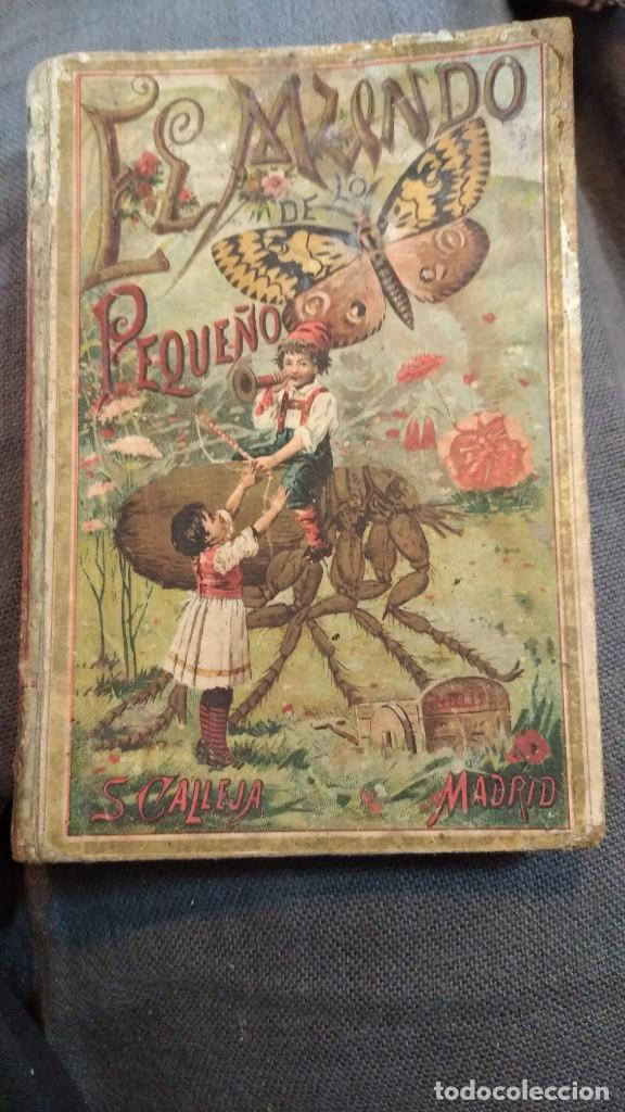EL MUNDO DE LO PEQUEÑO 1901 (PRODIGIOS DEL MICROSCOPIO) D. ROQUE GÁLVEZ Y ENCINAR, 66 GRABADOS (Libros Antiguos, Raros y Curiosos - Literatura Infantil y Juvenil - Cuentos)