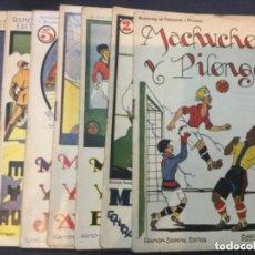 Libros antiguos: AVENTURAS DE MACHUCHO Y PILONGO - COLECCION COMPLETA - 8 VOLUMENES + 1 POSTAL - BUEN ESTADO. Lote 208470548