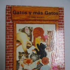 Livros antigos: GATOS Y MAS GATOS. UN LIBRO MAGICO. EN 3 DIMENSIONES.EDITORIAL MONTENA.. Lote 208654145