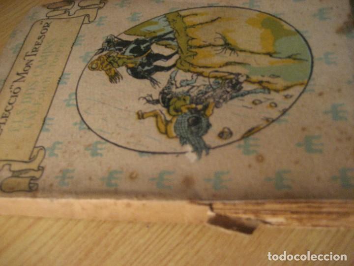 Libros antiguos: els dos camins . folch i torres . col.lecció mon tresor dedicado y firmado por el autor año 1921 - Foto 2 - 208978186
