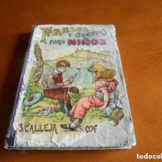 Libros antiguos: FRASES Y CUENTOS PARA NIÑOS - EDT SATURNINO CALLEJA - 1883. Lote 209233902