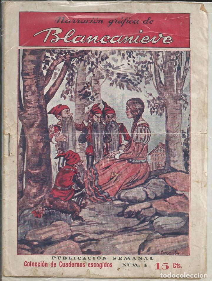 NARRACION GRÁFICA DE BLANCANIEVE - DE 32 CROMOS, COLECCION CUADERNOS ESCOGIDOS Nº 4 (Libros Antiguos, Raros y Curiosos - Literatura Infantil y Juvenil - Cuentos)