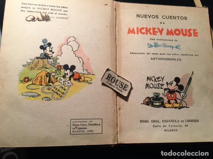 Libros antiguos: NUEVOS CUENTOS DE MICKEY MOUSE - 1935 CON ILUSTRACIONES DE WALT DISNEY adaptacion del texto para los - Foto 5 - 209915126