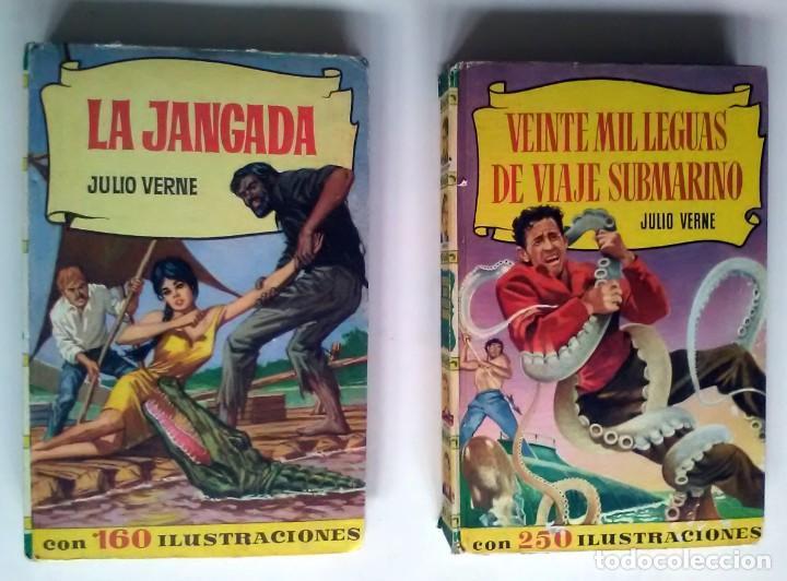 LA JANGADA/VEINTE MIL LEGUAS DE VIAJE SUBMARINO. JULIO VERNE. 1965/1966, 1ª/7ª EDICIÓN (Libros Antiguos, Raros y Curiosos - Literatura Infantil y Juvenil - Cuentos)