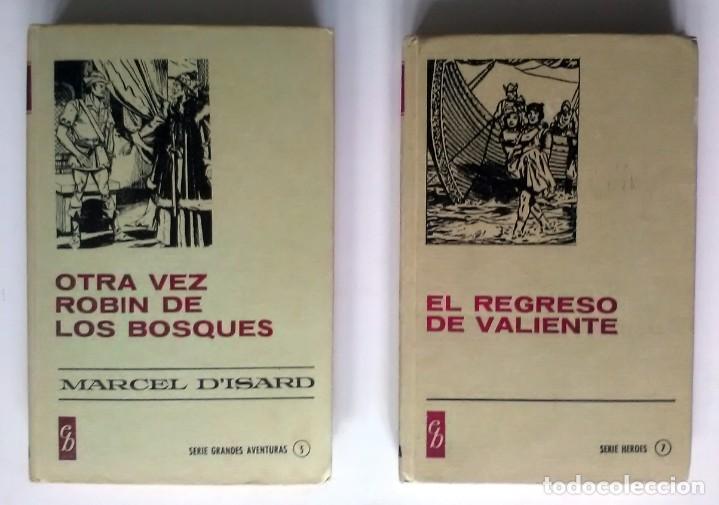 EL REGRESO DE VALIENTE / OTRA VEZ ROBIN DE LOS BOSQUES. 1977/1967, 1ª EDICIÓN (Libros Antiguos, Raros y Curiosos - Literatura Infantil y Juvenil - Cuentos)