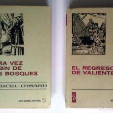 Libros antiguos: EL REGRESO DE VALIENTE / OTRA VEZ ROBIN DE LOS BOSQUES. 1977/1967, 1ª EDICIÓN. Lote 209926008