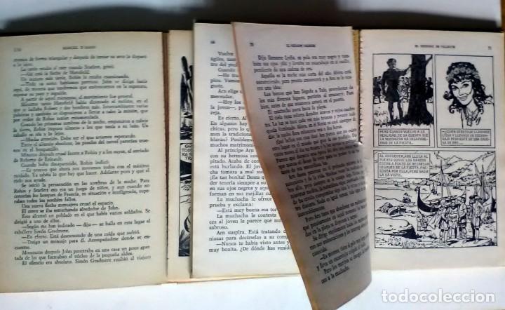 Libros antiguos: EL REGRESO DE VALIENTE / OTRA VEZ ROBIN DE LOS BOSQUES. 1977/1967, 1ª EDICIÓN - Foto 2 - 209926008