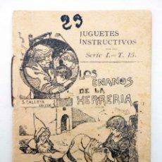 Libros antiguos: JUGUETES INSTRUCTIVOS. CUENTOS DE CALLEJA SERIE I. Nº 15. LOS ENANOS DE LA HERRERÍA CIRCA 1930. Lote 210280468