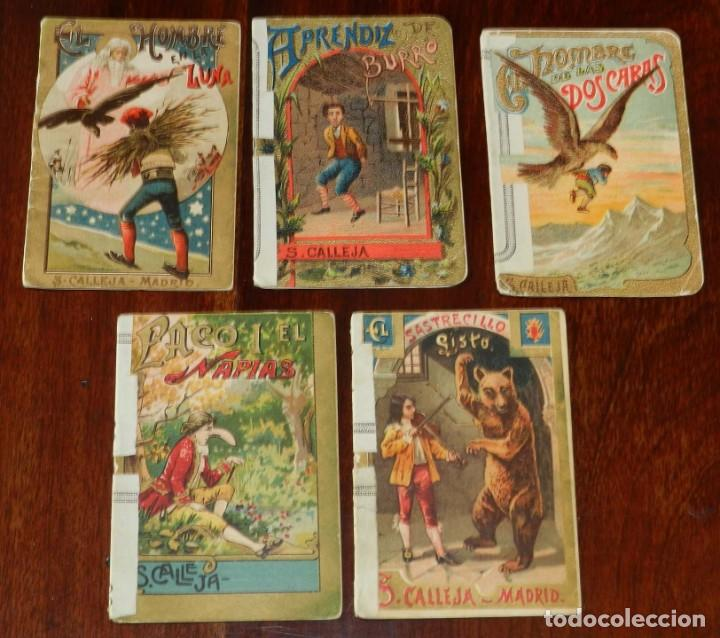 5 CUENTOS DE CALLEJA, CUENTOS BONITOS, TOMO 193, 205, 126, 106 Y 39, TIENEN REFORZADO EL LOMO CON UN (Libros Antiguos, Raros y Curiosos - Literatura Infantil y Juvenil - Cuentos)
