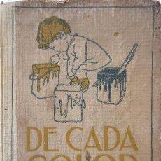 Libros antiguos: PR-2232. DE CADA COLOR. CONTES, FAULES, HISTORIETES I NARRACIONS. RAMON SURINÑACH BAELLS. ANY 1908.. Lote 212143375