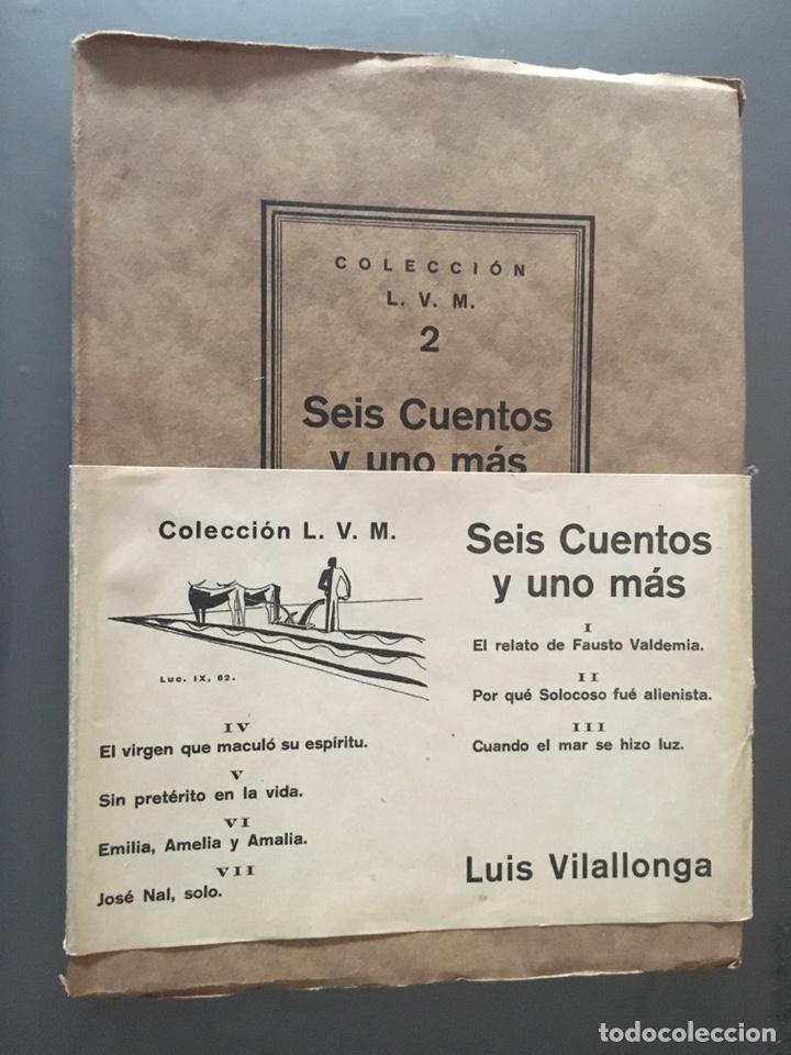 SEIS CUENTOS Y UNO MÁS - LUIS VILLALONGA - 1929 - 500 EJEMPLARES - 85P.21X15 - COMO NUEVO (Libros Antiguos, Raros y Curiosos - Literatura Infantil y Juvenil - Cuentos)
