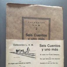 Libros antiguos: SEIS CUENTOS Y UNO MÁS - LUIS VILLALONGA - 1929 - 500 EJEMPLARES - 85P.21X15 - COMO NUEVO. Lote 212750085
