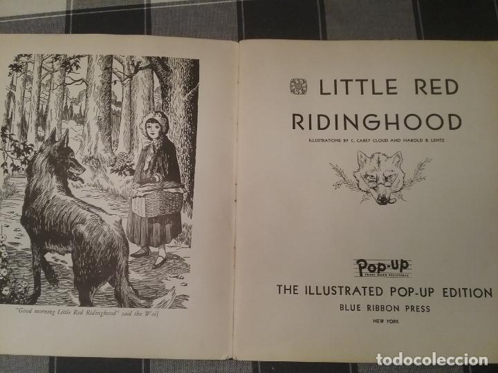 Libros antiguos: POP UP BOOK CAPERUCITA ROJA 1934 INGLES - Foto 9 - 213774498