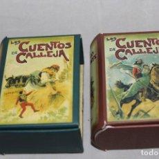 Libros antiguos: LOS CUENTOS DE SATURNINO CALLEJA 1901 EN SUS CAJAS CONTENEDORAS. Lote 213907970