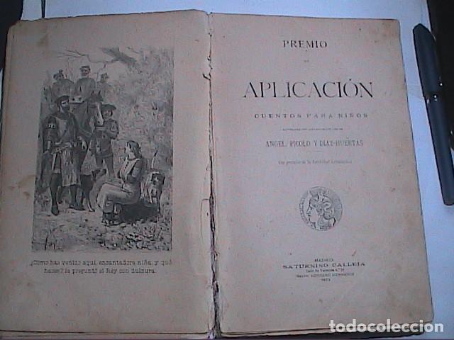 PREMIO DE APLICACIÓN. CUENTOS PARA NIÑOS. 1903. SATURNINO CALLEJA. (Libros Antiguos, Raros y Curiosos - Literatura Infantil y Juvenil - Cuentos)