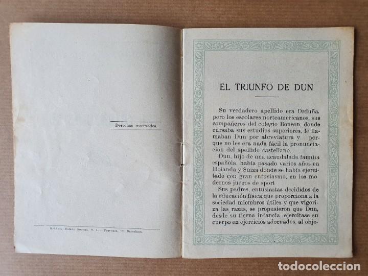 Libros antiguos: Cuento Infantil. El Triunfo de Dun. Ramón Sopena. Barcelona. 1933 - Foto 3 - 215261785