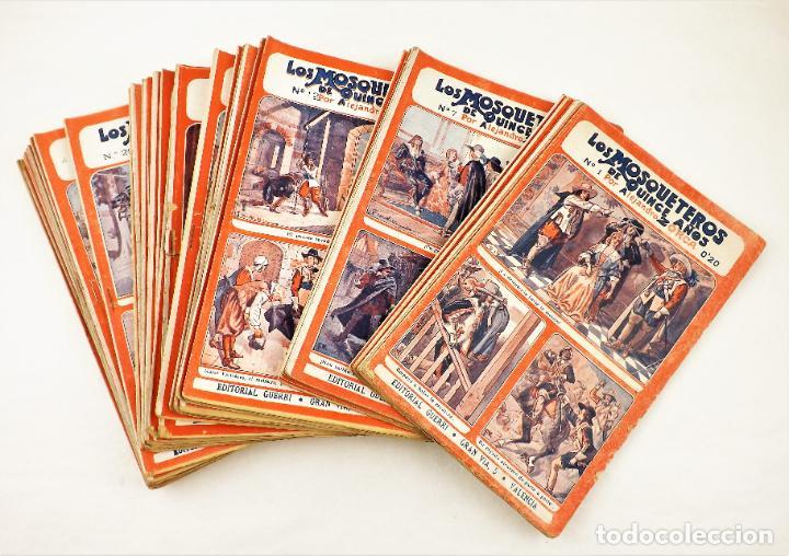 Libros antiguos: Los mosqueteros de quince años (Completa 50 numeros) Guerri - Foto 2 - 215345493