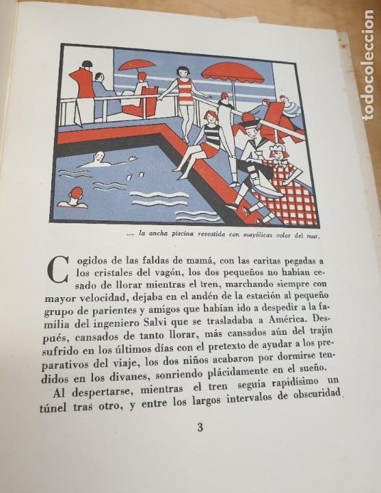 Libros antiguos: CÓMO POMPONCITO Y FALDITA ATRAVESARON EL OCÉANO NAVIGAZIONE GENERALE ITALIANA AÑOS 30 - Foto 2 - 217898558