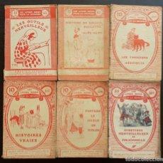 Libros antiguos: 1910 - LITERATURA INFANTIL - LOTE DE 6 LIBROS ILUSTRADOS - CUENTOS - GRABADOS - LIBRO PARA NIÑOS. Lote 218736222