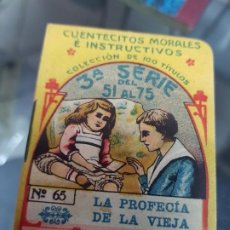 Libros antiguos: ANTIGUO CUENTO LA PROFECIA DE LA VIEJA PUBLICIDAD ROSA SANCHEZ Y CIA CHOCOLATES MURCIA. Lote 221128936