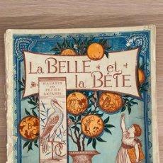 Libros antiguos: WALTER CRANE - LA BELLE ET LA BÊTE - MAGASIN DES PETITS ENFANTS - PARIS - HACHETTE ET CIE - 19TH.. Lote 221248796