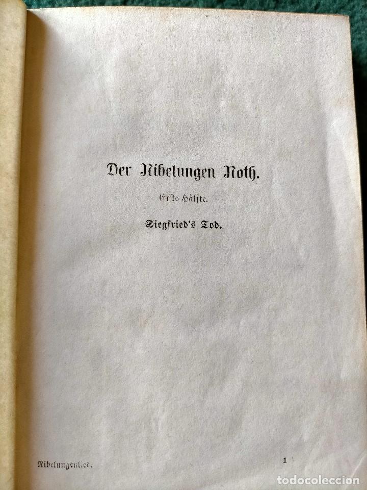Libros antiguos: ANTIGUO LIBRO LENGUA ALEMANA. LA CANCIÓN DE NIBELUNG DEL ALEMÁN MEDIO. BERLÍN 1854 - Foto 5 - 222749216