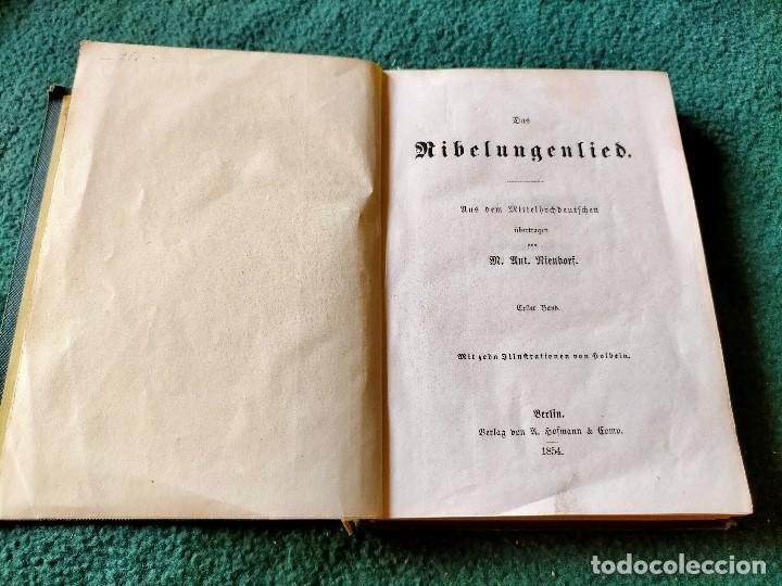 Libros antiguos: ANTIGUO LIBRO LENGUA ALEMANA. LA CANCIÓN DE NIBELUNG DEL ALEMÁN MEDIO. BERLÍN 1854 - Foto 2 - 222749216