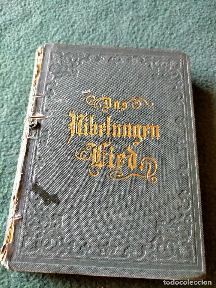 ANTIGUO LIBRO LENGUA ALEMANA. LA CANCIÓN DE NIBELUNG DEL ALEMÁN MEDIO. BERLÍN 1854 (Libros Antiguos, Raros y Curiosos - Literatura Infantil y Juvenil - Cuentos)