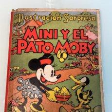 Libri antichi: LIBRO MINI Y EL PATO MOBI 1934 ILUSTRACIÓN SORPRESA WALT DISNEY EN BUEN ESTADO. Lote 224785186