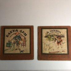 Libros antiguos: 2 CUENTOS ANTIGUOS COLECCIÓN POPULAR (BARBA AZUL,LA CENICIENTA)EDITORIAL LUCERO. Lote 225015210