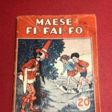 """Libros antiguos: COLECCIÓN MARUJITA """"MAESE FI-FAI-FO"""" Nº115. Lote 226610905"""