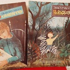 Libros antiguos: LOTE 2 LIBRO COLECCION MARAVILLAS EVA AVENTURAS DE PERIQUIN ,EL NIÑO QUE ESCRIBIO UN CUENTO 1963. Lote 226665735