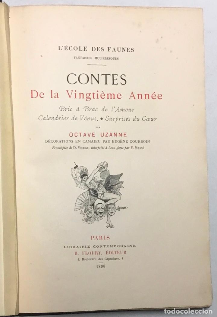Libros antiguos: CONTES DE LA VINGTIÈME ANNÉE. Bric à Brac de lAmour. Calendrier de Vénus.... - UZANNE. - Foto 5 - 123254928
