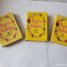 Libros antiguos: 3 CAJAS ANTIGUAS VACIAS DE CUENTOS - TESORO DE CUENTOS, EDITORIAL BRUGUERA. Lote 229069025