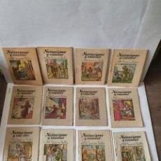 Libros antiguos: 12 CUENTOS MUY ANTIGUOS COLECCIÓN COMPLETA SERIE A DE LA SERIE NARRACIONES Y CUENTOS. Lote 229072860