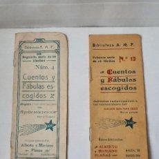 Libros antiguos: 2 CUENTOS Y FÁBULAS ESCOGIDOS MUY ANTIGUOS. Lote 229075038