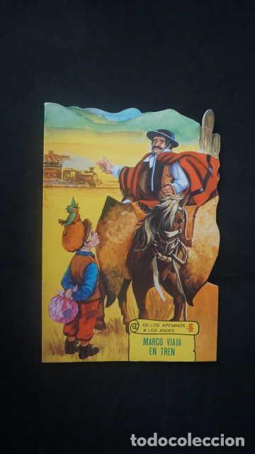 MARCOS VIAJA EN TREN, DE LOS APENINOS A LOS ANDES, EDICIONES TORAY AÑO 1977, CUENTO TROQUELADO (Libros Antiguos, Raros y Curiosos - Literatura Infantil y Juvenil - Cuentos)