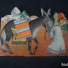 Livros antigos: EL BURRITO DE BELEN,COLECCION PEQUEÑA FLOR UNION DISTRIBUIDORA DE EDICIONES AÑO 60,CUENTO TROQUELADO. Lote 231246240