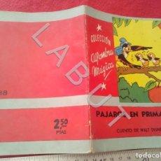 Libri antichi: COLECCION ALFOMBRA MAGICA 38 PAJAROS EN PRIMAVERA 1957 WALT DISNEY MOLINO U27. Lote 232625955