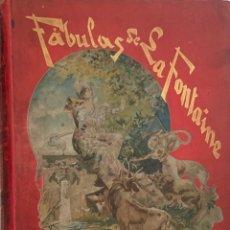 Libros antiguos: FÁBULAS DE LA FONTAINE. ILUSTRADAS POR GUSTAVO DORÉ. GRAN FORMATO. 1885. ESPECTACULAR EJEMPLAR.. Lote 233087940
