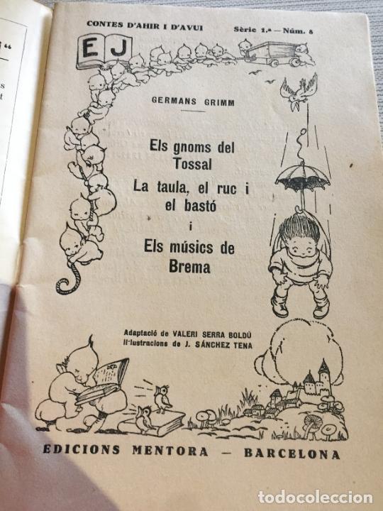 Libros antiguos: Antiguo libro infantil contes dahir i davui numero 8 años 30-40 - Foto 2 - 233332405