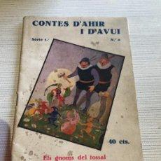 Libros antiguos: ANTIGUO LIBRO INFANTIL CONTES D'AHIR I D'AVUI NUMERO 8 AÑOS 30-40. Lote 233332405