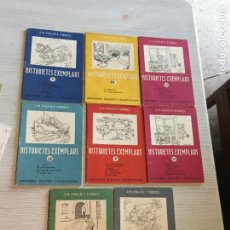Libros antiguos: ANTIGUOS 8 LIBRO HISTORIETES EXEMPLARS POR J.M. FOLCH I TORRES NUMERO 10-2-13-52-3-31-4 AÑO 1959. Lote 233437560
