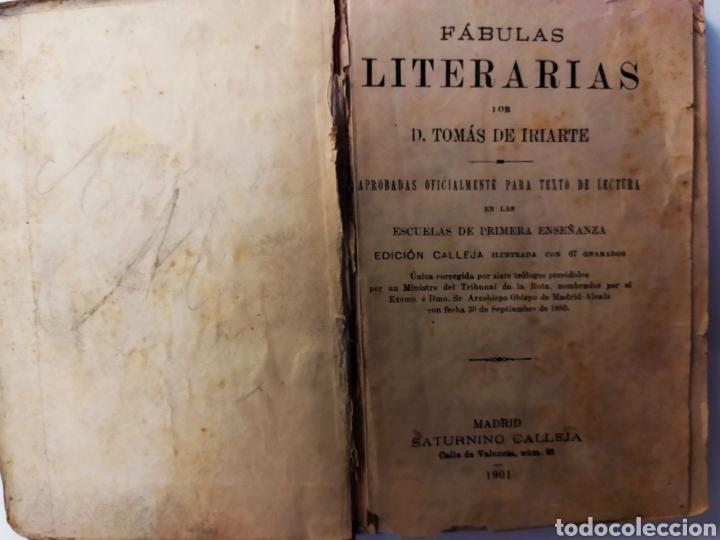 Libros antiguos: Fábulas Literarias de IRIARTE Ed.Saturnino Calleja 1901 - Foto 2 - 234997635