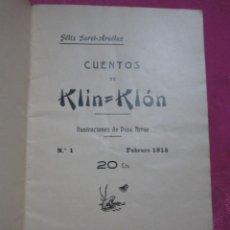 Libros antiguos: CUENTOS DE KLIN KLON GARCI ARCELUZ Y PEPE ARRUE CUENTO VASCO 1915. C43. Lote 241293755